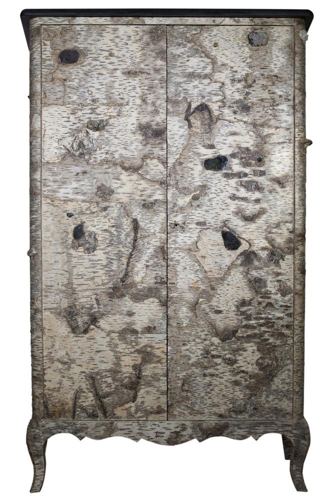 armoire style louis xv cabinet louis xv style birch bark furniture france bark furniture